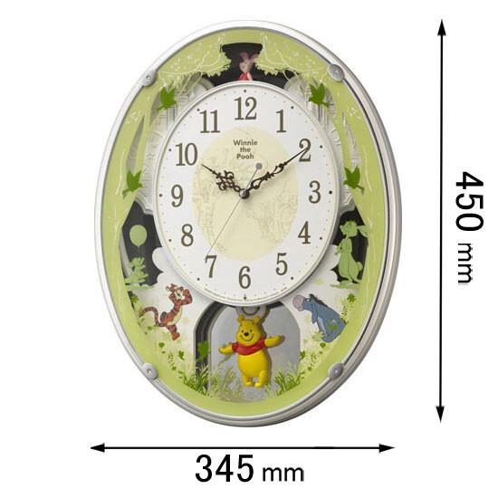 4MN523MC03 リズム時計 アミューズ時計 【くまのプーさん】 くまのプーさんM523-03 [クマノプサンM52303]【返品種別A】