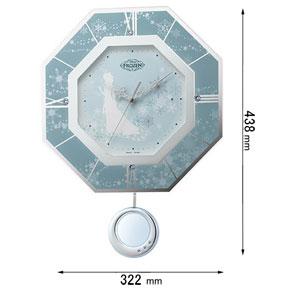 フリコトケイ アナユキ リズム時計 振り子時計 8MX405MC04 アナと雪の女王 [フリコトケイアナユキ]【返品種別A】