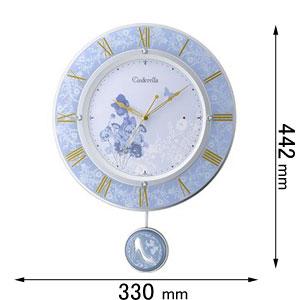 フリコトケイ シンデレラ リズム時計 振り子時計 8MX406MC04 シンデレラ [フリコトケイシンデレラ]【返品種別A】