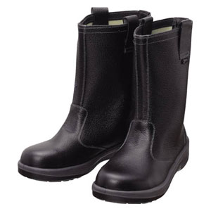 7544N23.5 シモン 安全靴 半長靴 黒 23.5cm