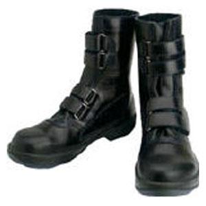 8538N23.5 シモン 安全靴 マジック式 黒 23.5cm