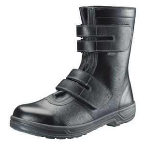 SS3824.0 シモン 安全靴 長編上靴マジック式 SS38黒 24.0cm