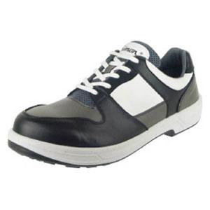 8512BKGR25.0 シモン トリセオシリーズ 短靴 黒/グレー 25.0cm