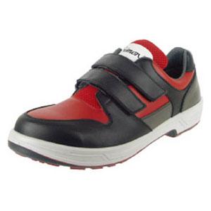 8518REDBK25.0 シモン トリセオシリーズ 短靴 赤/黒 25.0cm