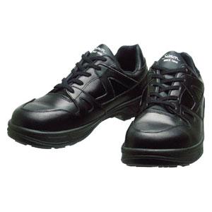 8611BK23.5 シモン 安全靴 短靴 8611黒 23.5cm