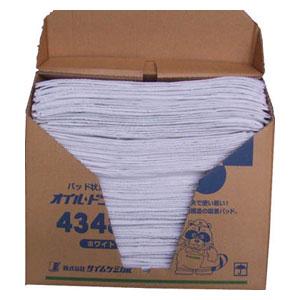 4348N タイムケミカル オイルドライパッド(43cm×48cm×100枚) ホワイト