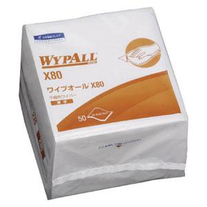 60580 日本製紙クレシア ワイプオールX80 4つ折(1ケース 50枚×12パック)