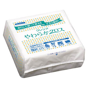 65200 日本製紙クレシア やわらかクロス (1ケース 200枚×72BOX)