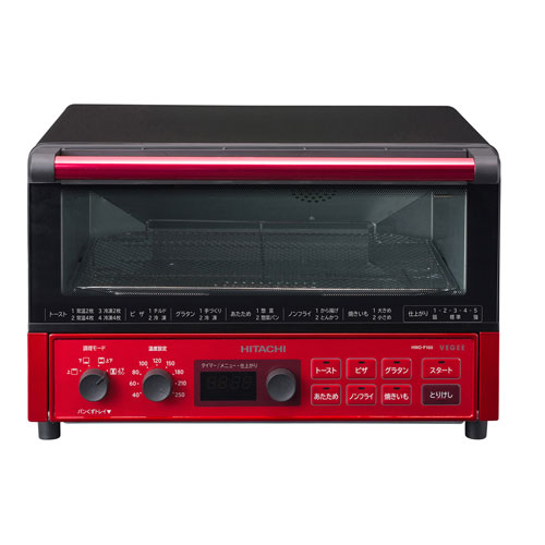 HMO-F100-R 日立 コンベクションオーブントースター メタリックレッド HITACHI