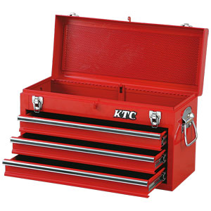 SKX0213 京都機械工具 チェスト(3段3引出し)ソリッドレッド KTC