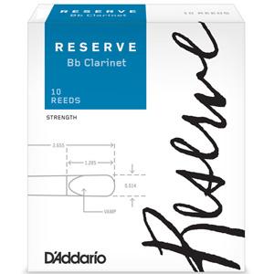 LDADRECL3.5 ダダリオウッドウインズ B♭クラリネットリード ダダリオ レゼルヴ 販売期間 限定のお得なタイムセール 3.5 D'Addario RESERVE 10枚入り <セール&特集> WOODWINDS