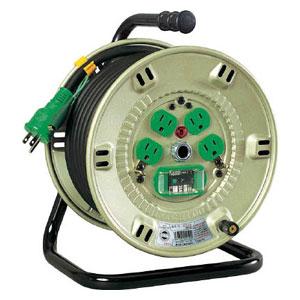 NPEB24 日動工業 100V漏電遮断器付電工ドラム