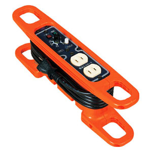 HRC032 日動工業 ハンドリール 電流コントロールリール 100V 2芯×3m 黒