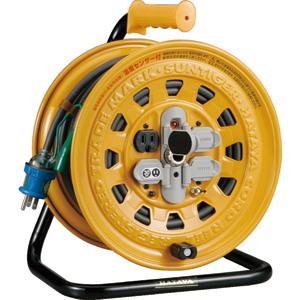 BG301KXS ハタヤリミテッド 温度センサー付コードリール 単相100V 30mアース付・ブレーカー付