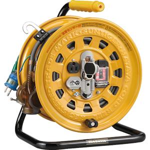 GBM130K ハタヤリミテッド 逆配電型ブレーカーリール 単相100Vアース付 27+6m