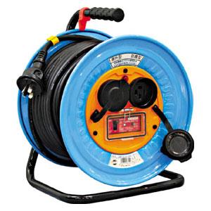DNWEK33020A 日動工業 電工ドラム 防雨防塵型三相200V アース過負荷漏電しゃ断器付 30m