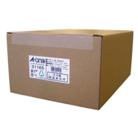 31165 エーワン ラベルシール「レーザープリンタ」マット紙・ホワイト A4 44面 四辺余白付 A-one