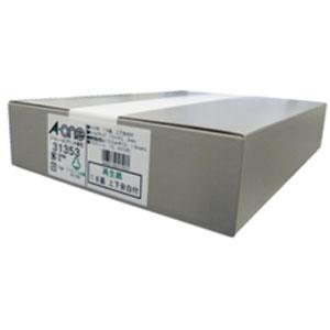 31353 エーワン ラベルシール(プリンタ兼用) 再生紙 A4判 18面 上下余白付 300シート (ホワイト)