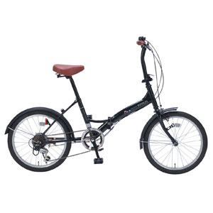 M-209 マイパラス 折りたたみ自転車 20インチ 6段変速(ブラックパール) MYPALLAS