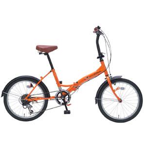 M-209 マイパラス 折りたたみ自転車 20インチ 6段変速(オレンジ) MYPALLAS