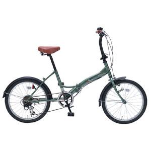 M-209 マイパラス 折りたたみ自転車 20インチ 6段変速(アイビーグリーン) MYPALLAS