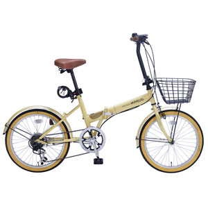 M-252-NA マイパラス 折りたたみ自転車 20インチ 6段変速 オールインワン(ナチュラル) MYPALLAS