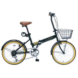 M-252-GR マイパラス 折りたたみ自転車 20インチ 6段変速 オールインワン(ダークグリーン) MYPALLAS