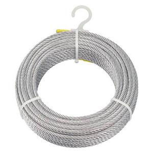 CWM6S200 トラスコ中山 メッキ付ワイヤロープ Φ6mmX200m