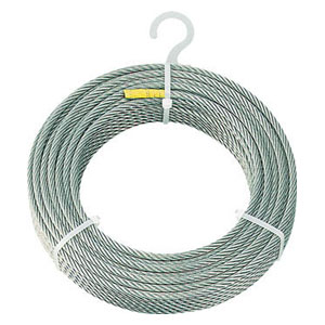 CWS6S200 トラスコ中山 ステンレスワイヤロープ Φ6mmX200m