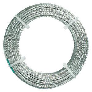 CWC15S200 トラスコ中山 ステンレスワイヤロープ ナイロン被覆 Φ1.5(2.0)mmX20