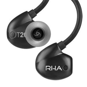 T20I-BLACK RHA マイク&コントローラー搭載ハイレゾ対応イヤホン(ブラック) RHA