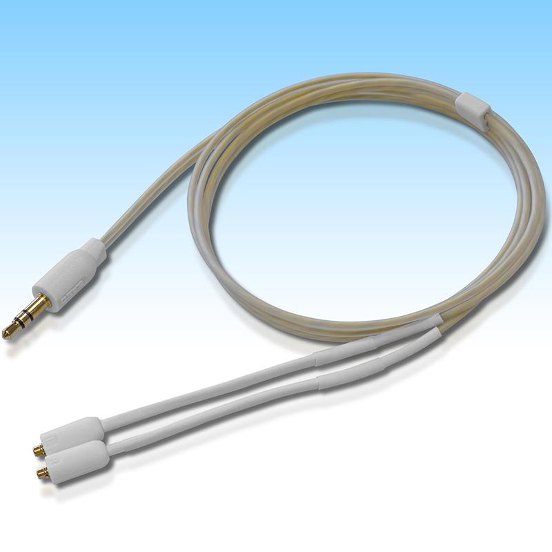 SHC-220FS-0.8 サエク ヘッドホン交換ケーブルMMCXコネクタ⇔3.5mmステレオミニプラグ【0.8m】 SAEC