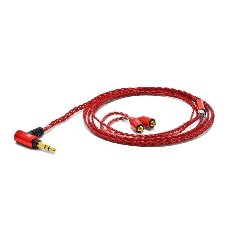 PALETTE8 MX-A CRIMSON RED オヤイデ ヘッドホン交換ケーブルMMCXコネクタ⇔3.5mmステレオミニプラグクリムゾンレッド【1.2m】 RE:CORD