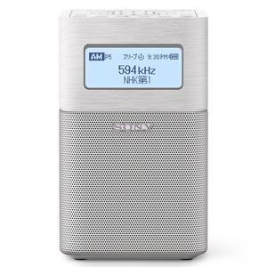SRF-V1BT (W) ソニー 内蔵バッテリー搭載 ワイドFMラジオ(ホワイト) SONY