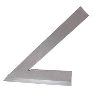156A100 大西測定 角度付台付定規(45°)