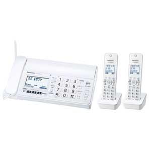 KX-PZ200DW-W パナソニック デジタルコードレス普通紙FAX(子機2台付き) ホワイト Panasonic おたっくす