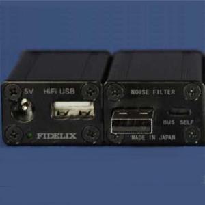 USBノイズフイルタB フィデリックス HiFi USB NOISE FILTER(ブラック) FIDELIX