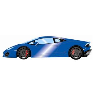1/43 Lamborghini Huracan LP580-2 メタリックブルー【EM345B】 メイクアップ