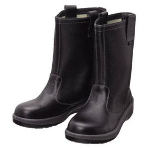 7544N28.0 シモン 安全靴 半長靴 黒 28.0cm