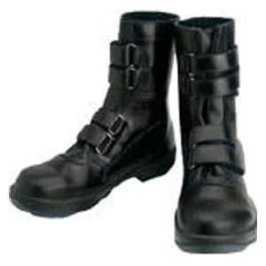 8538N25.0 シモン 安全靴 マジック式 黒 25.0cm