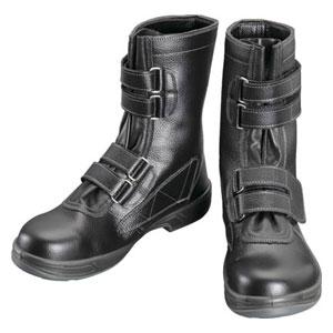 SS3829.0 シモン 安全靴 長編上靴マジック式 黒 29.0cm