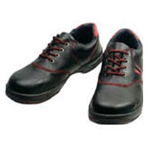 SL11R27.0 シモン 安全靴 短靴 黒/赤 27.0cm