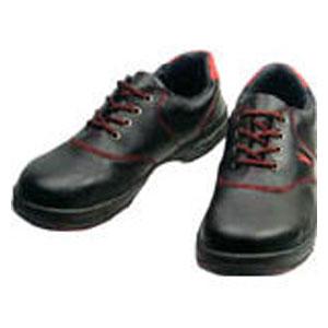 SL11R28.0 シモン 安全靴 短靴 黒/赤 28.0cm