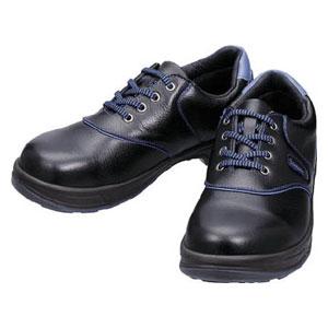 SL11BL25.5 シモン 安全靴 短靴 黒/ブルー 25.5cm