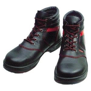SL22R26.0 シモン 安全靴 編上靴 黒/赤 26.0cm