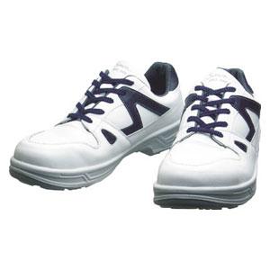 8611WB25.0 シモン 安全靴 短靴 白/ブルー 25.0cm