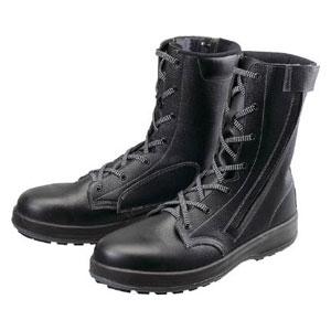 WS33C25.5 シモン 安全靴 長編上靴 黒C付 25.5cm