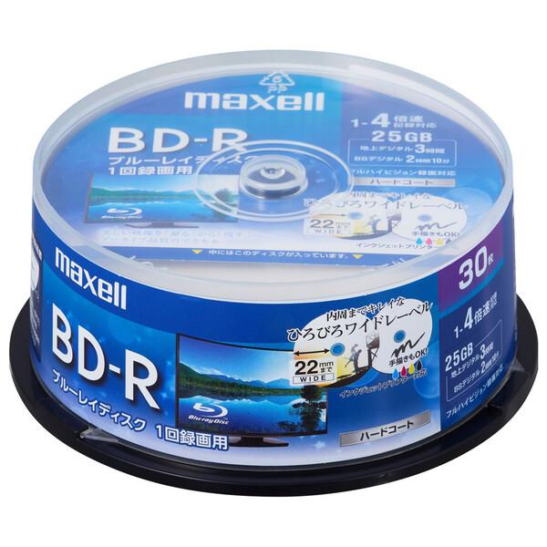BRV25WPE.30SP 全国どこでも送料無料 売れ筋 マクセル 4倍速対応BD-R 30枚パック ホワイトプリンタブル 25GB