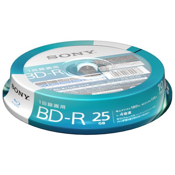 10BNR1VJPP4 ソニー 4倍速対応BD-R 10枚パック 25GB ホワイトプリンタブル