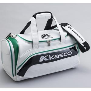 KS-182 ホワイト/グリ-ン キャスコ ボストンバッグ (ホワイト/グリーン)
